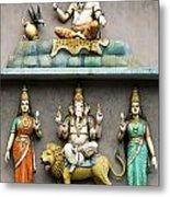 Hindu Temple With Indian Gods Kuala Lumpur Malaysia Metal Print