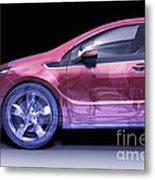 Hybrid Car Metal Print