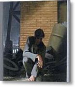 6. Jesus Prays Alone / From The Passion Of Christ - A Gay Vision Metal Print