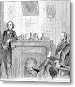 Johnson Impeachment, 1868 Metal Print