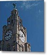 Liverpool's World Heritage Status Waterfront Buildings Metal Print