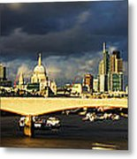 London  Skyline Waterloo  Bridge Metal Print