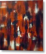 Modern Abstract Painting Original Canvas Art Shadow People By Zee Clark Metal Print