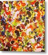 Modern Abstract Painting Original Canvas Art Twister By Zee Clark Metal Print