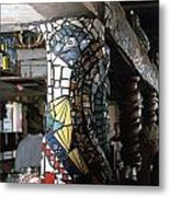 Mosaic Pillar Metal Print