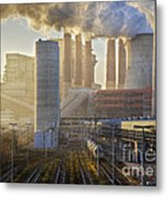 Neurath Power Station Germany Metal Print by David Davies