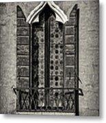Old World Window Metal Print