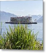 Passenger Ship On An Alpine Lake Metal Print