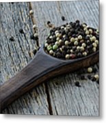 Peppercorn And Spoon Metal Print