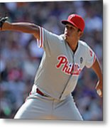 Philadelphia Phillies V Colorado Rockies Metal Print