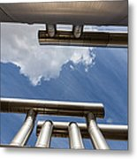 Pipes At Nesjavellir Geothermal Power Metal Print
