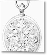 Pocket Watch, 19th Century Metal Print