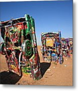 Route 66 - Cadillac Ranch Metal Print