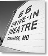 Route 66 Drive-in Theatre Metal Print