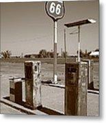 Route 66 Gas Pumps Metal Print