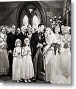 Silent Film Still: Wedding Metal Print