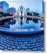 St. Louis Downtown Skyline Buildings At Night Metal Print