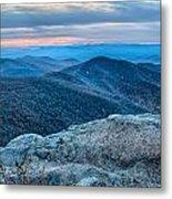 Sunset View Over Blue Ridge Mountains Metal Print