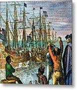 The Boston Tea Party, 1773 Metal Print by Granger