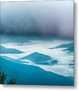 The Simple Layers Of The Smokies At Sunset - Smoky Mountain Nat. Metal Print