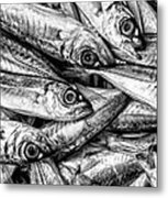 Tile Of Fishes Metal Print