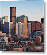 Usa, Colorado, Denver, City View Metal Print