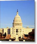 Usa, Washington Dc, Capitol Building Metal Print