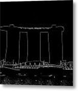View Of The Towers Of The Marina Bay Sands In Singapore Metal Print