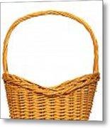 Wicker Basket Number Seven Metal Print