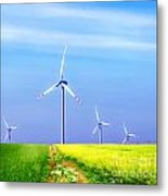 Wind Turbines Metal Print