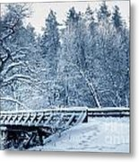 Winter White Forest Metal Print