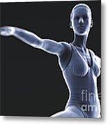 Yoga Warrior II Pose Metal Print