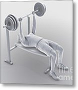 Exercise Workout Metal Print