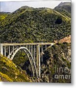 604 Det  Big Sur Bridge Metal Print