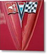 63 Corvette Emblem Metal Print