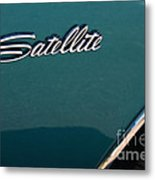 65 Plymouth Satellite Logo-8503 Metal Print