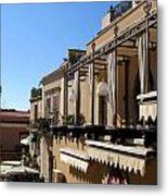 Views Of Taormina Sicily Metal Print