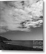 651 Bw The Couds Of Big Sur Metal Print