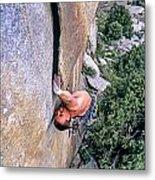 Rock Climber Metal Print