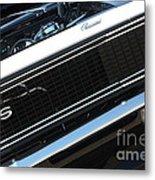 67 Black Camaro Ss Grill-8039-2 Metal Print