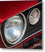 67 Camaro Ss Headlight-8724 Metal Print