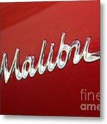 67 Malibu Chevelle Logo -0058 Metal Print