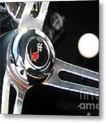 67 Malibu Chevelle Steering Wheel-0055 Metal Print