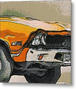 68 Chevelle Abstract Metal Print