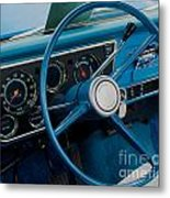 68 Chevy Truck Dash Metal Print