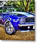 69 Chevrolet Camaro - Hdr Metal Print by motography aka Phil Clark