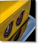 '69 Corvette Tail Lights Metal Print
