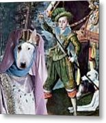 Bull Terrier Art Canvas Print Metal Print