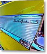 1957 Chevy Bel Air Custom Hot Rod Metal Print