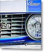 1969 Chevrolet Camaro Z-28 Grille Emblem Metal Print